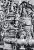 由公司的太空火箭引擎NK-33细节  库存照片