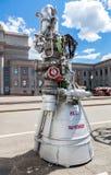 由公司的太空火箭引擎NK-33 库存图片
