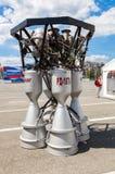 由公司的太空火箭引擎RD-107A 库存图片