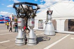 由公司的太空火箭引擎RD-107A和NK-33 免版税图库摄影