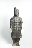 由古老瓷的赤土陶器战士 免版税库存图片