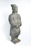由古老瓷的赤土陶器战士 库存照片