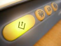 由后面照的按钮扫描程序 免版税库存照片