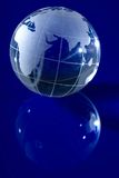 由后面照的蓝色地球光 免版税图库摄影