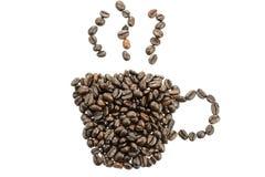 由咖啡豆做的咖啡 库存照片