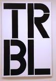 由在显示的克里斯托弗羊毛麻烦绘画在现代和当代艺术的所罗门R古根海姆美术馆在纽约 图库摄影