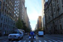 由在NYC的德顿路 库存图片