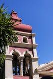 由城堡或老堡垒的小教堂在科孚岛希腊海岛上的科孚岛镇  免版税库存图片