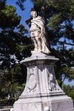 由城堡或老堡垒的雕象在科孚岛希腊海岛上的科孚岛镇  库存照片