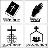 由基督徒象的基督徒商标 图库摄影