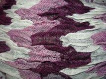 由天然纤维做的五颜六色的围巾 图库摄影