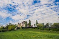 由威尼斯式建筑师安德烈亚・帕拉弟奥的别墅叫Villa la Rotonda 免版税图库摄影