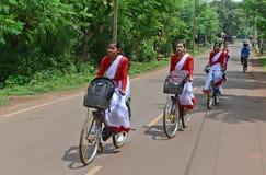 由州政府的自行车发行 免版税库存图片