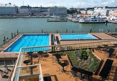 由市场的游泳池在赫尔辛基 库存图片