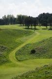 由市Etretat打高尔夫球领域, Normandie 库存图片
