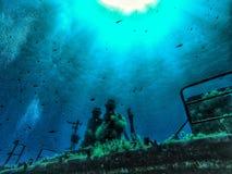 由德国海军的水下的马耳他击毁 免版税库存图片