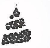 由抽象元素做的圣诞树 免版税库存图片