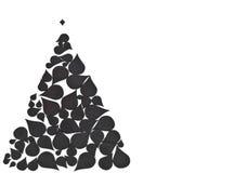 由抽象元素做的圣诞树 免版税库存照片