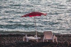 由放松的海的一个地方 免版税库存照片