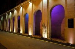 由斯图尔特车道位于乔治城,槟榔岛的地方艺术家架线钢标尺导线艺术 库存照片
