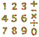 由新鲜的沙拉做的数字 免版税图库摄影