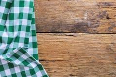 由方格的餐巾做的背景 库存照片