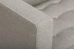 由最佳的家用家具的偶然吧椅,豪华的被缓冲的后面合并与经典滚动的胳膊,反撞力样式避开与软性的装饰 库存图片