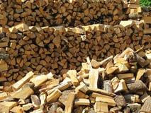 由木头做的木柴 免版税库存图片