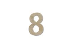 由木头做的第8字母表被隔绝在白色背景 免版税图库摄影