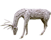 由木头做的驯鹿鹿角 免版税库存照片
