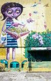 由未知的艺术家的街道艺术 库存照片