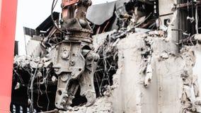 由机械的大厦爆破新建工程的 图库摄影