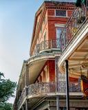 由杰克逊广场新奥尔良的法国街区阳台 免版税图库摄影