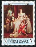 由杰勒德男爵的卡罗琳穆拉特和孩子 免版税库存图片