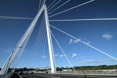由森德兰` s北尖顶桥梁决定上面  库存图片