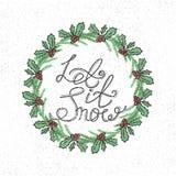 由槲寄生和冷杉分支做的圣诞节花圈 免版税库存图片