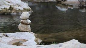 由河的平衡石头 股票录像