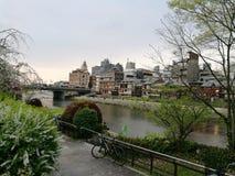 由河的路径 库存照片