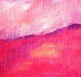 由油的抽象淡紫色绘画在帆布 皇族释放例证