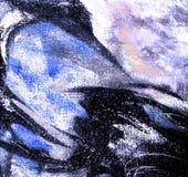 由油的抽象混乱绘画在帆布,例证, backg 免版税图库摄影