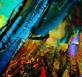 由油的抽象混乱绘画在帆布,例证, backgr 向量例证