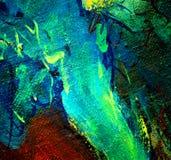 由油的抽象混乱绘画在帆布,例证, backgr 库存图片