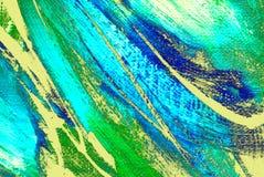 由油的抽象绘画在帆布,例证,背景 皇族释放例证