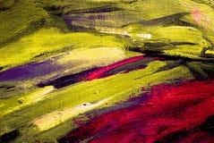 由油的抽象绘画在帆布,例证,背景 免版税库存照片
