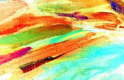 由油的抽象绘画在帆布,例证 免版税库存图片
