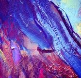 由油的抽象绘画在帆布,例证 库存例证