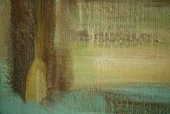 由油的绘画在帆布,例证 库存例证