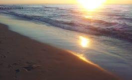 由波罗的海的日落 图库摄影