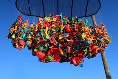 由海展览的雕塑在Bondi澳大利亚 库存照片