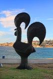 由海展览的雕塑在Bondi澳大利亚 库存图片